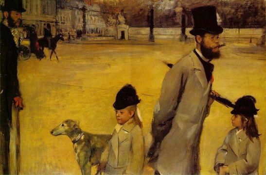 Place de la Concorde, Edgar Degas, Ermitaż,[ źródło zdjęcia].