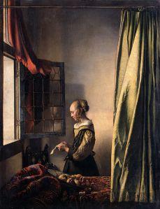 Kobieta czytająca list przy otwartym oknie, Vermeer, źródło zdjęcia.