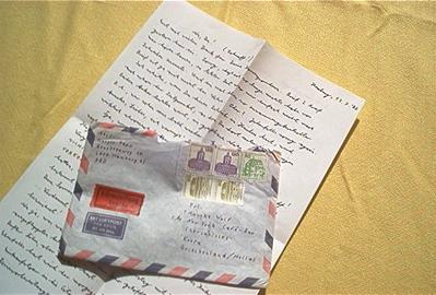 Analogowy list i koperta.