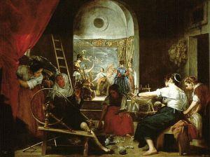 [Prządki, albo Baśń o Arachne, Diego Velázquez, olej na płótnie, Prado źródło zdjęcia].