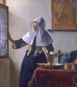 [Kobieta z dzbanem, albo Kobieta przy oknie, Jan Vermeer van Delft, ok. 1662, oryginał w Metropolitan Museum of Art, w Nowym Jorku, źródło zdjęcia].