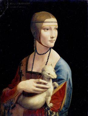 The Lady with an Ermine Leonardo da Vinci [źródło zdjęcia].