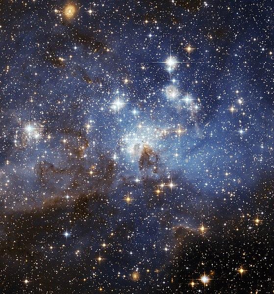 Obszar gwiazdotwórczy LH 95 w Wielkim Obłoku Magellana.