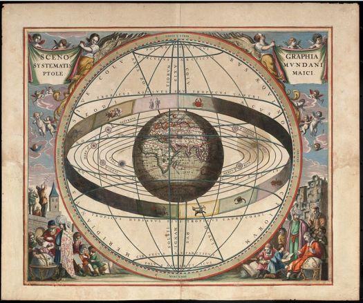 [Mapa wszechświata Ptolemeusza według Andreasa Cellariusa].