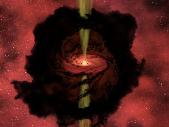 Wyobrażenie protogwiazdy ukrytej wewnątrz globuli Boka